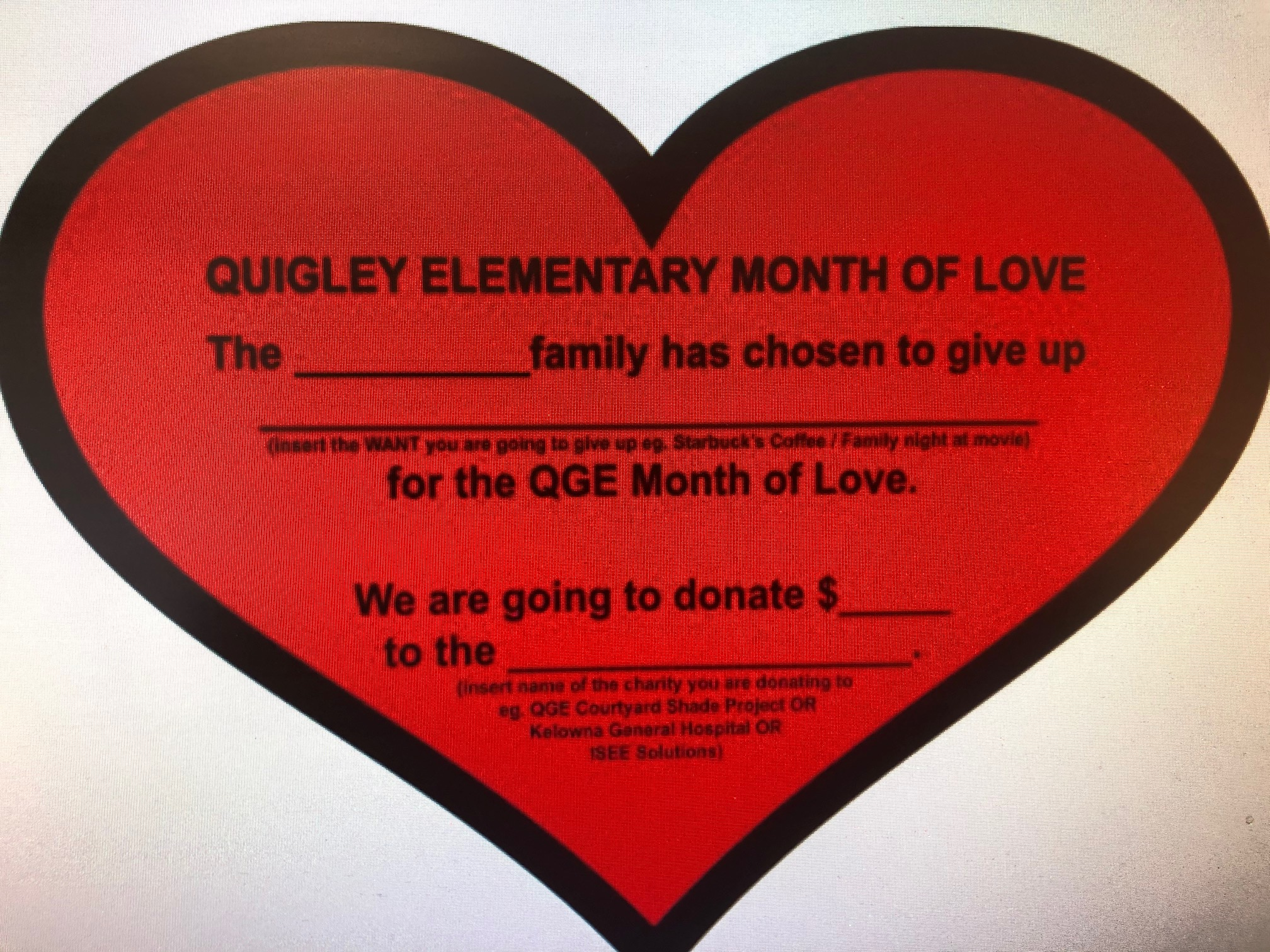 Quigley Month of Love 2021